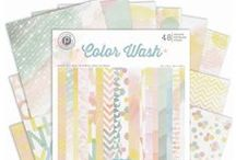 Color Wash Collection / Create watercolor effects without the mess with Pink Paislee's new Color Wash Collection. #watercolor #scrapbooking / by Pink Paislee