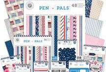 Pen Pals Collection / Send heartfelt correspondence to friends and loved ones with our new Pen Pals collection.  Available in stores March 2014. #pinkpaislee #scrapbooking #DIY / by Pink Paislee