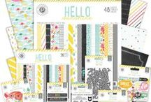 Hello Sunshine Collection / Delight in the sunny side of life with the new Hello Sunshine Collection from Pink Paislee. #pinkpaislee #scrapbooking #crafts #hellosunshine / by Pink Paislee