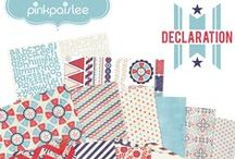 Declaration Collection / Cookouts. Baseball Games. Pool Parties. Fireworks. Picnics. Sporting Events.  Festivals. Summer Fun.  This collection covers it all! It is perfect for every little (and big) patriot in your life too!   / by Pink Paislee