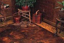 cement/lament flooring, etc / by Gloria Thompson