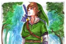 The Hylian Hero (fanart) / Link, the left-handed knight (usually) / by Félise Echavarria-Esposito