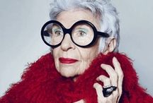 IRIS APFEL / AN ICON IN FASHION DESIGN AND IN HER OWN FIERCE INDIVIDUALITY. / by Sylvia Guyton
