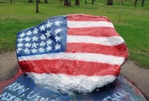 """The Rock / """"The Rock"""" on Kent State's front campus rarely goes untouched. Painting the Rock began as a campus tradition in the 1930s. Students, and even some staff members, make their way to The Rock at all hours of the day and night with paint and brushes or spray paint cans in hand, sometimes multiple times a day. The Rock allows students to represent their fraternity or sorority, comment on current events, remember friends who have died or to send a greeting. Read the history at http://bit.ly/UNEUE0. / by Kent State University"""