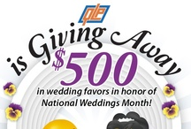 Quality Logo Products Wedding Favor Giveaway / We're celebrating National Weddings Month (February) in style by giving away $500 in wedding favors! For the contest rules, check out our blog post: http://buff.ly/XaknHP. Hurry and enter - the contest ends on February 25th! / by Quality Logo Products