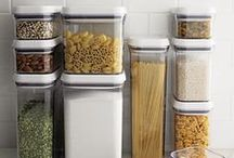 The Kitchen Pantry by Crate and Barrel / Improve your shelf life. Nothing makes us feel more productive than a fridge and pantry organized with space-saving storage that keeps food fresher and safer. / by Crate and Barrel