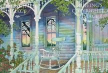 Country Porches...Plain & Fancy Too / While persuing this board, if you notice a duplicate pin, PLEASE comment it to me. I will delete the offender. I dislike repeating myself but sometimes it happens. / by Christa Gettys