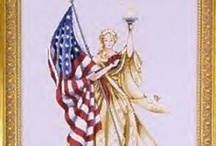 Patriotic Cross Stitch Patterns / There are some nice patterns here / by Stitch and Frog Cross Stitch