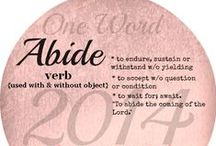 """2014//Abide / """"Abide in Me, & I in you. As the branch cannot bear fruit of itself, unless it abides in the wine, neither can you, unless you abide in Me ... as the Father loved Me, I also have loved you, abide in My love."""" John 15:4-5,9 / by Meghan Gorecki"""