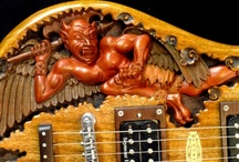 Electric Guitars Gone Wild / Some wild and wonderful electric guitar specimens here. http://densmusic.net / by Denis Hillman