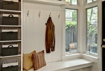 Closets, Laundry, & Mudrooms / My house isn't set up for a mudroom, but the idea of having one is still so nice. / by Anna Jalbert