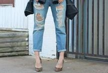 D is for Distressed Boyfriend Jeans / See how to wear all the hottest Spring/Summer 2014 trends in the Sydne Style A-Z Trend Guide   http://www.sydnestyle.com/a-z-trend-guide/ #sstrendguide / by Sydne Summer