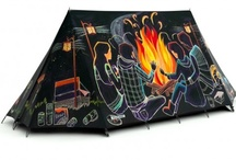 Camping - Tents and camping vehicles / by woodland holiday cottage, campsite and woodwork near Edinburgh