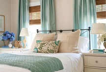 Bedroom inspiration  / I recently updated my bedroom from a pink and green wallpapered cave to a aqua retreat with lots of shabby beach charm.  This is a collection of inspiration and actual photos from the room. / by Krystle Walsh