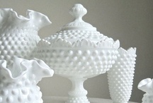 Milk glass Collection / A collection of milk glass items that I have or an trying to find for my collection. / by Krystle Walsh