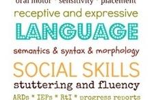 Speech Therapy Ideas / by Jennifer Berg-Zulk