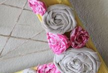 fabric flowers / by Lori Tabor