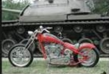 The Gunny / USMC Custom Motorcycle. USMC Custom Bike. Suicide Shifter(NCO Sword), Grenade Turn Signals, K-Bars on front forks, Designed and built by Marines. / by Simon Guereca
