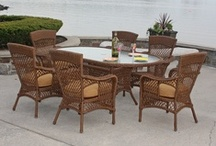 Wicker Dining Furniture / Wicker dining furniture is the material to choose when you want your guests to see your style and natural looking dining furniture preference. Included for your happy hour are the wicker bar sets and bars tools. / by Wicker Paradise