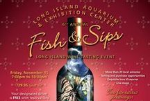 Fish & Sips / Long Island Wine Tasting / by Long Island Aquarium & Exhibition Center