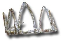 My Aluminum Foil Tiara In Vault / Various modes of making your own jeweled wearable treasures from re-purposed objects / by Purrific Meowmur