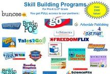 Skill-Building and School-Enrichment Programs / SKILL BUILDING PROGRAMS WITH FULL ACCESS TO: *BRAINPOP AND BRAINPOP JR *SCHOLASTIC: FREEDOMFLIX, TRUEFLIX AND SCIENCEFLIX *WORLD BOOK EARLY LEARNING · SMART MATH, BRITANNICA LEARNING ZONE * TALES2GO AUDIO BOOKS AND MORE! / by TestingMom.Com
