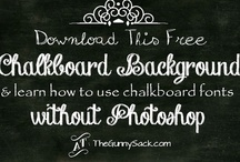 Everything Chalkboards {printables, backgrounds, lettering, tutorials, etc.} / by The Gunny Sack