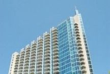 Spire Midtown Atlanta / Spire arrived on the Midtown Atlanta condo scene in 2005. The building offers studio, 1 and 2 bedroom floor plans. Located on Peachtree at 7th Streets, Spire Midtown is 28 stories. / by Thom Abbott Midtown Atlanta Real Estate