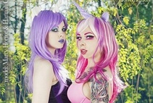 The Easter Unicorns in Corsets! / Models Hannah Ghore and Marcy Horror modeling as the Easte Unicorn and her lovely assistant Fluffhorn. Do you love these girls as much as we do? / by Corset Connection