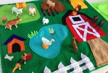 play | flannel boards, felt toys, and quiet books / This began as a board about feltboards, but I'm starting to be intrigued with all things felt... play food... quiet books and more! / by Kate MacGregor