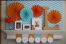 orange and aqua / by Schoolgirl Style www.schoolgirlstyle.com