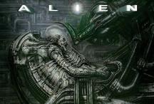 Alien, Predator, Prometheus / Xenomorph, Yautja, Engineers (Pilots, Space Jockeys, Ossians, Mala'kak, Mundus Gubernavi), Weyland Corporation, Weyland-Yutani Corporation, Colonial Marines / by Diego Eichberger