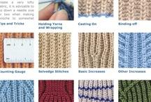KNITTING STITCHES / by MaryAnnsDesigns Knitting Patterns