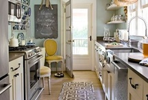 Someone's in the kitchen! / Kitchen and Dining, Design and Decor / by Amanda Freeman {Realistically Domestic}