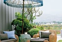 ROOMS patio  / patios, porches, decks  & pergolas / by Kathryne Brody