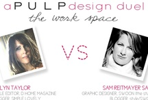 PULP Inspiration: design duels / The famous PULP Design Duels on HelloSplendor.com showcase two bloggers head-to-head in a design duel.  / by Pulp Home + Pulp Design Studios