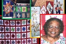 """Quilts by Juanita Louise Henry-Durham ( b. 1921-) / First cousin to my grandfather W. E. Henry, Sr. , childhood and lifelong friend to Katie Mae Durham-Tatum... and wife to Katie Mae's brother, (Alonzo aka """"Lonzo"""" Durham). / by Sherry Byrd"""