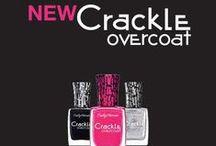 Crackle Overcoat / Desde un plateado metálico hasta un fucsia brillante, los nuevos Crackle te permiten crear un mosaico de diseño único, moderno y sofisticado. / by Sally Hansen Argentina