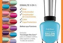 Complete Salon Manicure - Edición Limitada Verano / Nuevos colores de Sally! Disfrutá de 5 esmaltes en 1: Base, Endurecedor, Fortalecedor de crecimiento, Color y Capa Protectora. / by Sally Hansen Argentina