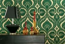 Wallcovering Chic / Every print, pattern, color...live large! / by Terrie Hall T. Hall Interiors