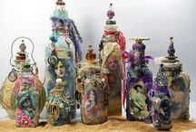 Baskets, Bottles, and Cans = Pretty Repurpose / Repurposed bottles, tin cans, baskets = Pretty Fabulous / by Sharon Kirch