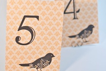 Table Numbers / Table Numbers, Place Cards and Inspiration / by Bellus Designs