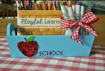 Back to School Countdown-Supply Organization / by Laura Bray Designs
