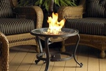 Firepits . . . Fireplaces / Outdoor Fire Pits -- table top fire pits, gas fire pits, firepits made of metal, designed firepits, wood burning firepits / by Back Yard Ideas