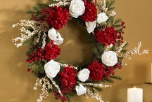 "Xmas . . . Wreaths / Wide variety of Christmas Wreaths for celebrating the holidays. There are white ones, green ones, red ones, pre-lit, 24"", 30"" wreaths, 36"", 60"", 72"" wreaths, / by Back Yard Ideas"