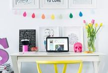 Office & Work Space Inspiration / Because everyone wants to work in a beautiful space. / by Megan Bray | Balancing Home