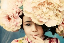 """flowers in her hair ~ / """"Someone told me there's a girl out there, with love in her eyes, and flowers in her hair.""""                                          Led  Zepplin ~ / by Loretta Cohen"""