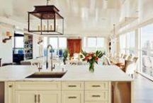 TREND ALERT - Lanterns in Kitchens! / What is the one room you are spending most of your time in? For most of us, it is the kitchen, this is where we gather to eat family meals, chat with friends, and assist the kids with their homework. Why not change up and brighten the area you spend the majority of your time at home in. We are seeing lanterns in kitchens everywhere these days! Here are several examples of these fixtures throughout kitchen applications.  / by Bevolo