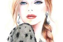 illustration - Fashion~•✿•~ / by Lynn *·٠•♥