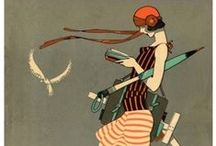 """йσυνεαυ ❋ ↁєcø ⓔchø / It comes down to """"flowery"""" vs. """"streamlined."""" Art Nouveau, decorative, Art Deco, sleeker. Both reactions to global events; Industrial Revolution/WW I. Art Nouveau, 1880-WWI.  Art Deco, after WWI.  Great War deprivations years gave way to opulence/extravagance; defined Jazz Age/Art Deco aesthetic. Prevalent from 1920s to WWII, took it's name from 1925 Exposition Internationale des Arts Décoratifs et Industriels Modernes. To me, appealing in their femininity, grace & even angular design.   / by Sandra Lee Larsen"""